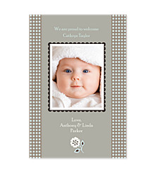 Aura Quartz Baby Birth Announcement Photo Cards