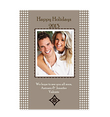 Aura Brown Christmas Photo Cards