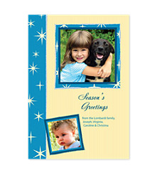 Star Margin Holiday Photo Cards