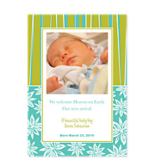 Nifty Baby Birth Announcement Photo Cards