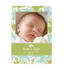 Ocean Breeze Birth Announcement Photo Cards