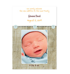 Shabby Chic Photo Birth Announcement Cards