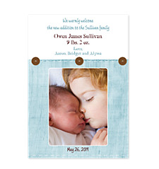Stone Washed Baby Birth Announcement Photo Cards