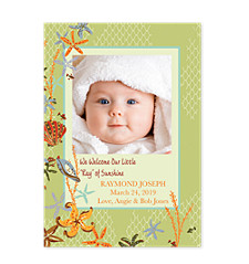 Downunder Baby Birth Announcement Photo Cards