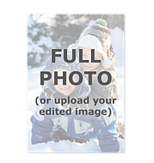 Full Bleed Flat Photo Christmas Cards