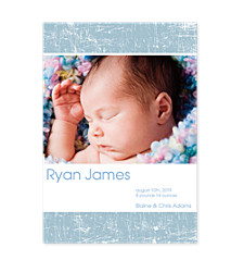 Scribbles Vertical Photo Birth Announcement Cards