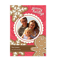 Yummy Holidays Photo Christmas Cards
