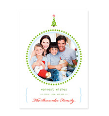 Round Frame Holiday Photo Cards