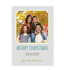 Lime Frame Holiday Photo Cards
