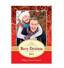Red & Gold Christmas Photo Cards