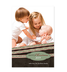 Christmas Ribbons Photo Christmas Cards