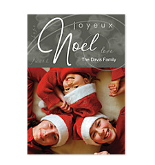 Joyeux Noel Holidy Photo Cards