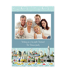 Big Apple Christmas Photo Cards