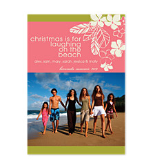 Paradise Vertical Holiday Photo Cards