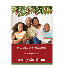 Oh! Oh! the Misletoe Photo Holiday Cards