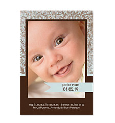 Inspired Photo Birth Announcement Cards