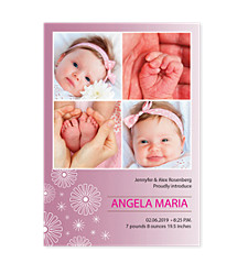 Dazzling Photo Birth Announcement Cards