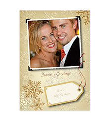 Photo Flakes Holiday Photo Cards