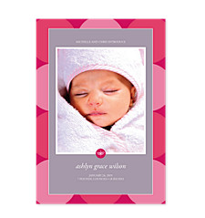 Simple Circles Birth Announcement Photo Cards