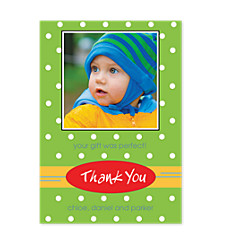 Modern Thank You Photo Cards