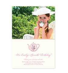Tea Party Birthday Party Invitations