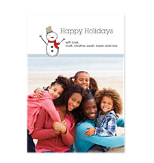 Snowman Happy Holidays Photo Cards