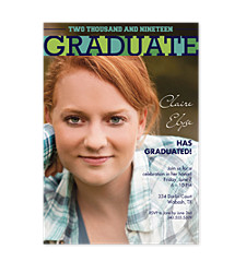 Super Graduation Invitation Photo Cards