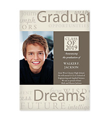 Dreams & Wishes Graduation Photo Cards