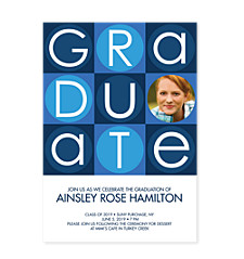 Building Blocks Graduation Invitation Photo Cards