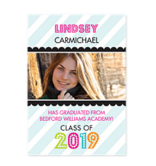 Name in Lights Graduation Announcement Photo Cards
