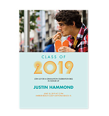 Surfer Graduation Invitation Photo Cards
