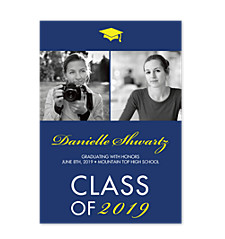 Classy Graduation Announcement Photo Cards