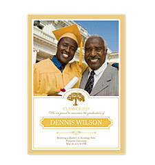 Learning Tree Graduation Announcement Photo Cards