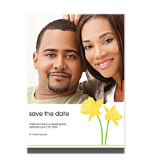 Daffodil Save the Date Photo Cards
