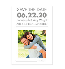 Hoplessly Devoted Save the Date Photo Cards