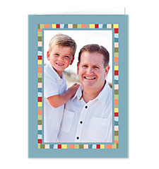 Colorful Border Father's Day Photo Cards