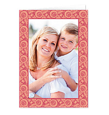 Twirly Border Mother's Day Photo Cards