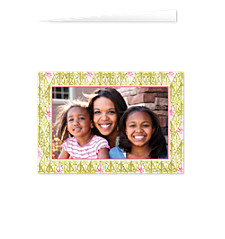 Olive Border Mother's Day Photo Cards