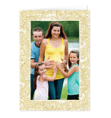 Khaki Border Mother's Day Photo Cards