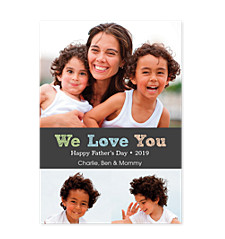 We Love You Dad Father's Day Photo Cards
