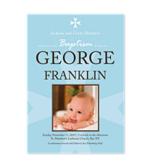 Baptism Boy Birthday Party Invitations
