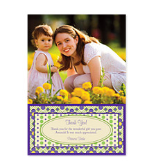 Violet Photo Thank You Cards