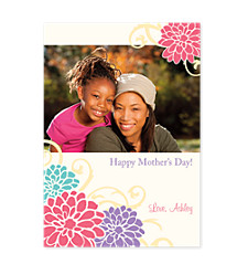 Four Flower Mother's Day Photo Cards