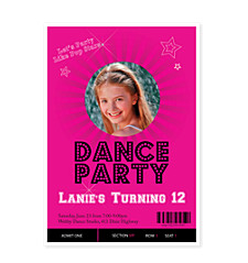 Dance Party Kid Birthday Party Invitations