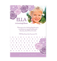 Garden Party Birthday Invitations