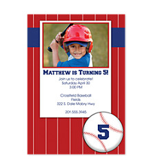 Swing Batter Kid Birthday Party Invitations