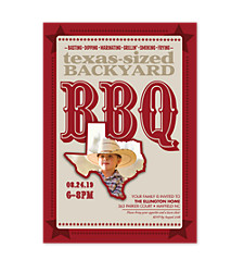 Texas Sized Adult Party Invitations