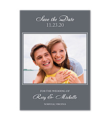 It's Only Love Charcoal Save the Date Cards