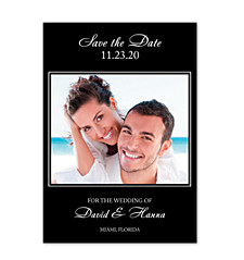 It's Only Love Black Save the Date Cards